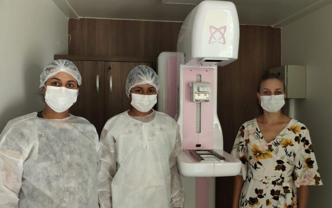 Carreta da Prevenção ao câncer de mama atende 186 mulheres em Alto Paraíso