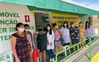 Carreta zera fila por mamografia em Luziânia